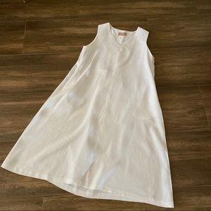 Philosophy White Linen Dress NWOT